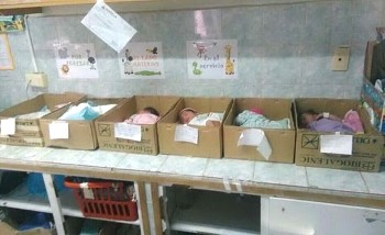 Venezuela neonati in scatola